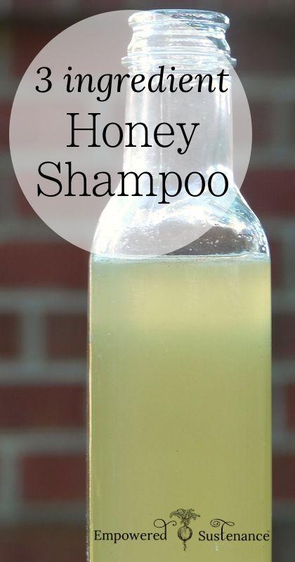 3 ingredient Honey Shampoo