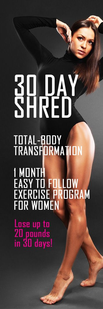 Start the 30 day shred  Transform your body today!