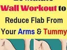 10 Minute Wall Workout to Reduce Flab From Your Arms and Tummy