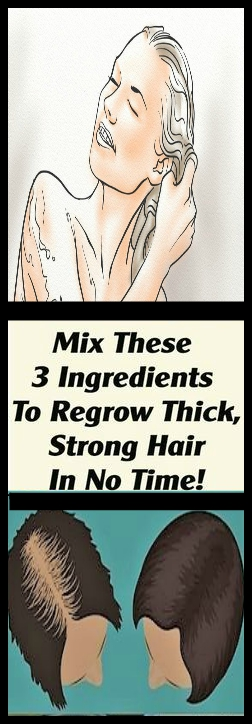 Mix These 3 Ingredients To Regrow Thick Strong Hair In No Time Mix These 3 Ingredients To Regrow Thick, Strong Hair In No Time