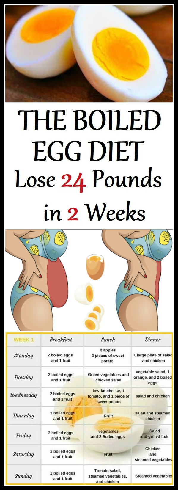 The Boiled Egg Diet Lose 24 Pounds in 2 Weeks The Boiled Egg Diet Lose 24 Pounds in 2 Weeks