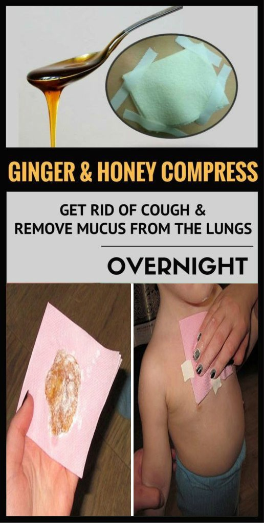13 Ginger and Honey Compress: Get Rid of Cough and Remove Mucus From the Lungs Overnight