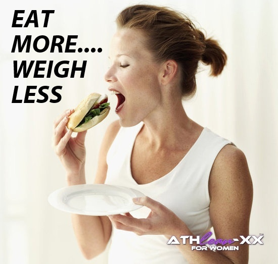 EAT MORE.... WEIGH LESS EAT MORE.... WEIGH LESS
