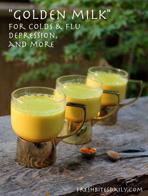 Golden milk for cold, flus, depression, and more