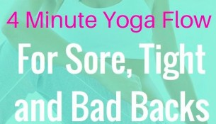 4 Minute Yoga Flow For A Bad Low Back
