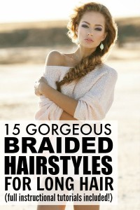 15 braided hairstyles for long hair 200x300 Gorgeous sexy young girl