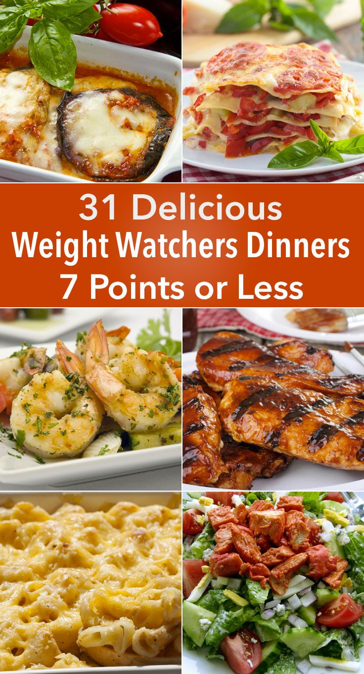 31 Delicious Weight Watchers Dinners for 7 Points or Less 50 Recipes for Weight Loss