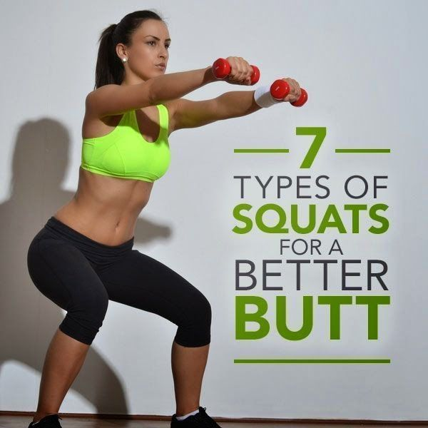6 Types of Squats for a Better Butt 6 Types of Squats for a Better Butt