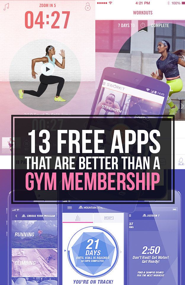 13 Free Apps That Are Better Than A Gym Membership 13 Free Apps That Are Better Than A Gym Membership