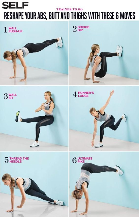 6 Moves Thatll Work Your Abs Butt and Thighs in the Best Way 6 Moves Thatll Work Your Abs, Butt, and Thighs in the Best Way