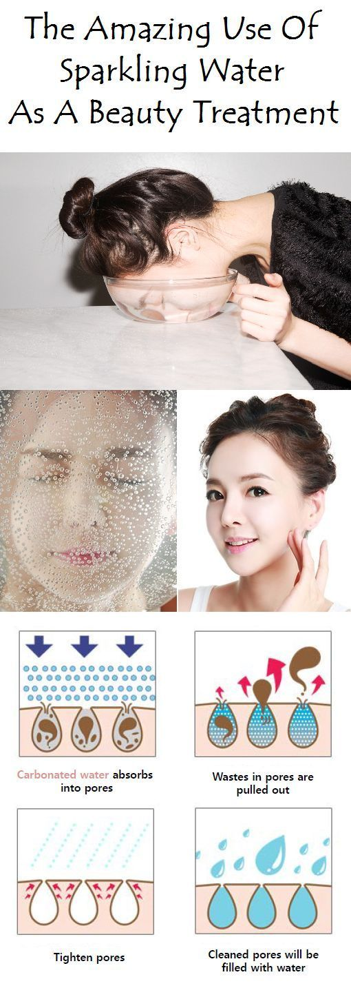 Washing your face with carbonated or sparkling water is one Washing your face with carbonated or sparkling water is one