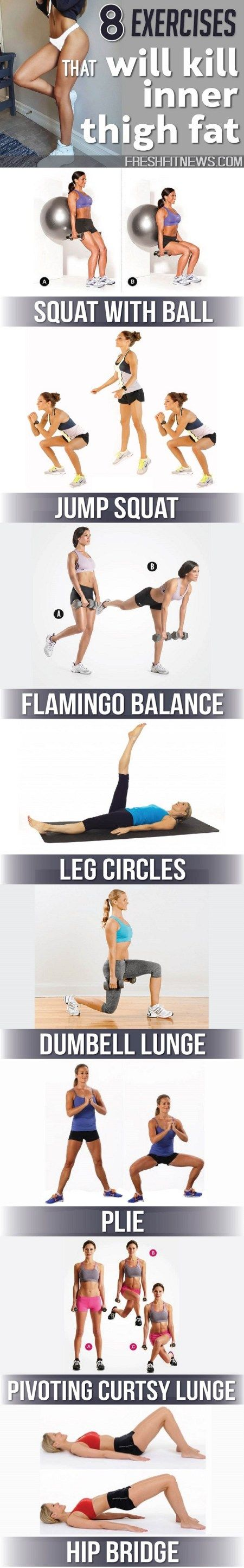8 Exercises That Will Kill Inner Thigh Fat 8 Exercises That Will Kill Inner Thigh Fat