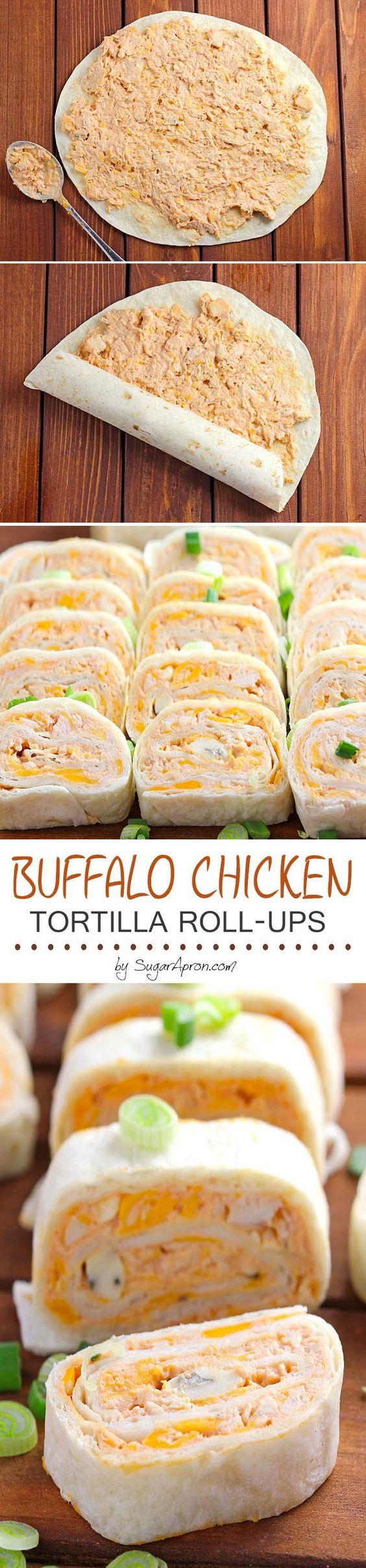 Buffalo Chicken Tortilla Roll Ups Buffalo Chicken Tortilla Roll Ups