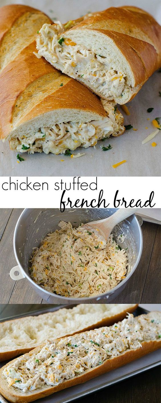 Chicken Stuffed French Bread Chicken Stuffed French Bread