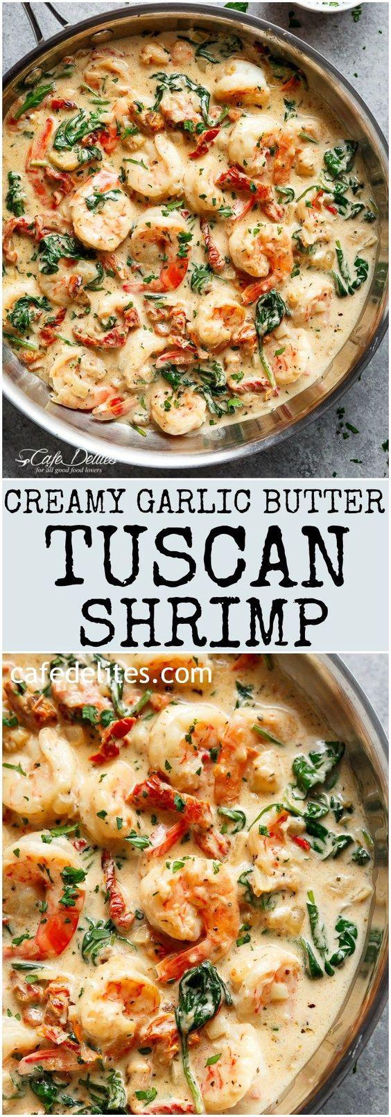 Creamy Garlic Butter Tuscan Shrimp Creamy Garlic Butter Tuscan Shrimp