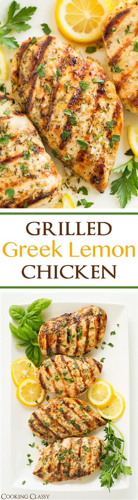 Grilled Greek Lemon Chicken Grilled Greek Lemon Chicken