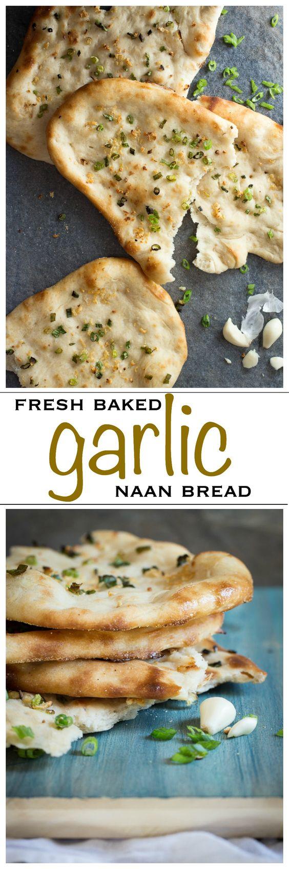Homemade Garlic Naan Bread Homemade Garlic Naan Bread