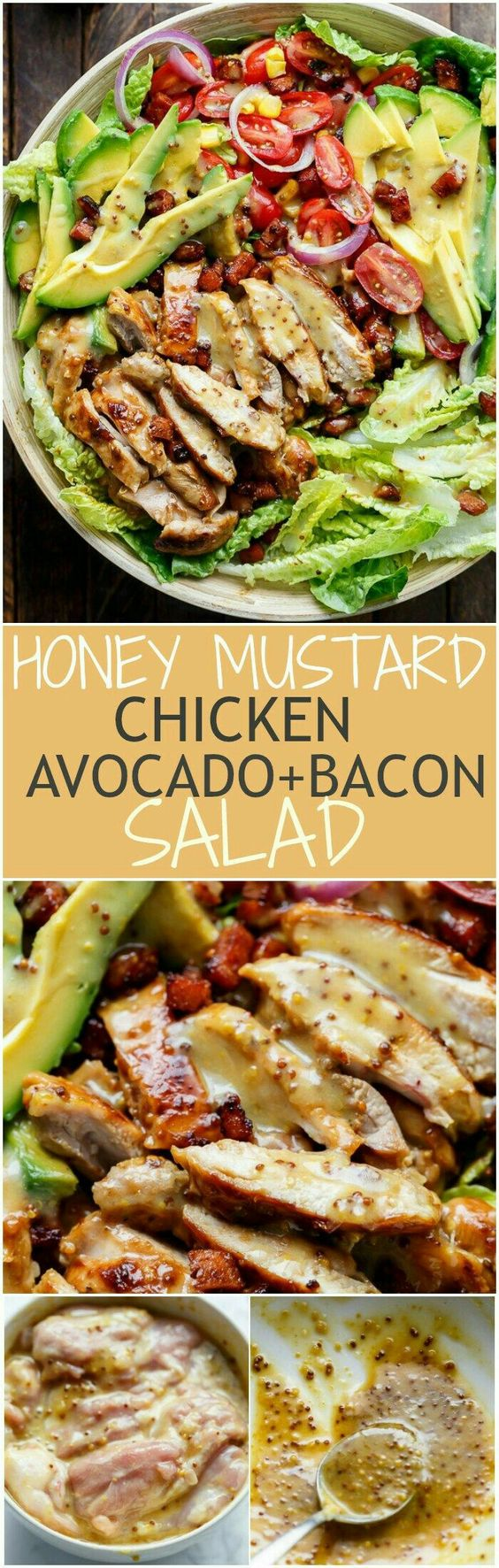 Honey Mustard Chicken Bacon Avocado Salad Honey Mustard Chicken Bacon + Avocado Salad