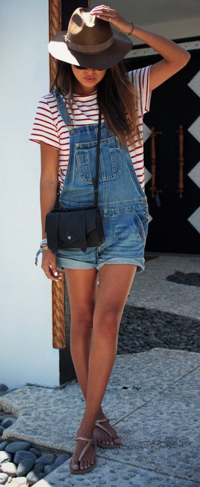 How to Style a Pretty Look with Shortalls How to Style a Pretty Look with Shortalls