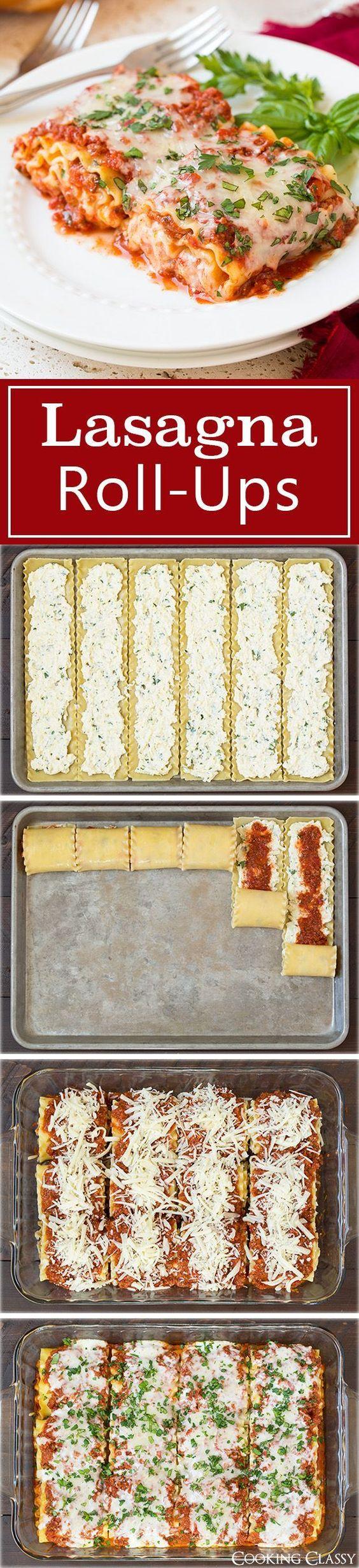 Lasagna Roll Ups Lasagna Roll Ups