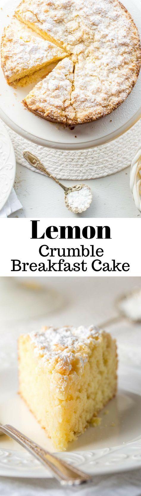 Lemon Crumble Breakfast Cake Lemon Crumble Breakfast Cake