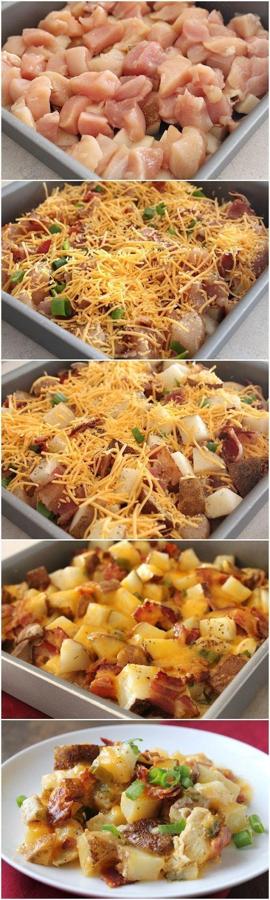 Loaded Baked Potato Chicken Casserole Loaded Baked Potato & Chicken Casserole