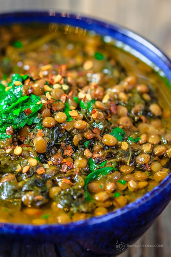 Mediterranean Spicy Spinach and Lentil Soup Mediterranean Spicy Spinach and Lentil Soup