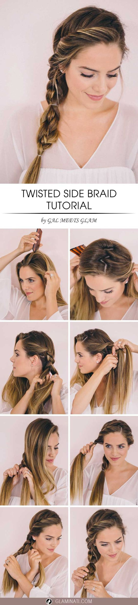 Medium Hairstyles with Twisted Side Braid