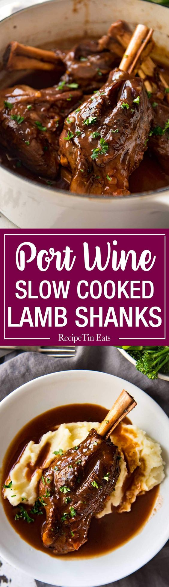 Port Braised Lamb Shanks Port Braised Lamb Shanks