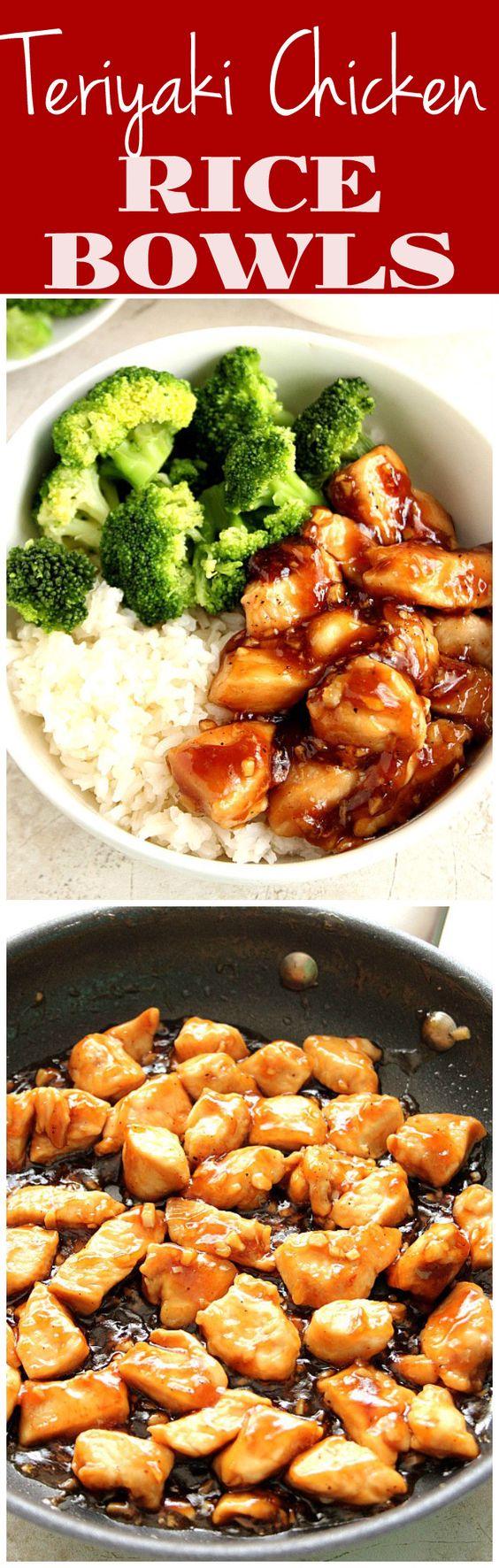 Quick Teriyaki Chicken Rice Bowls Quick Teriyaki Chicken Rice Bowls