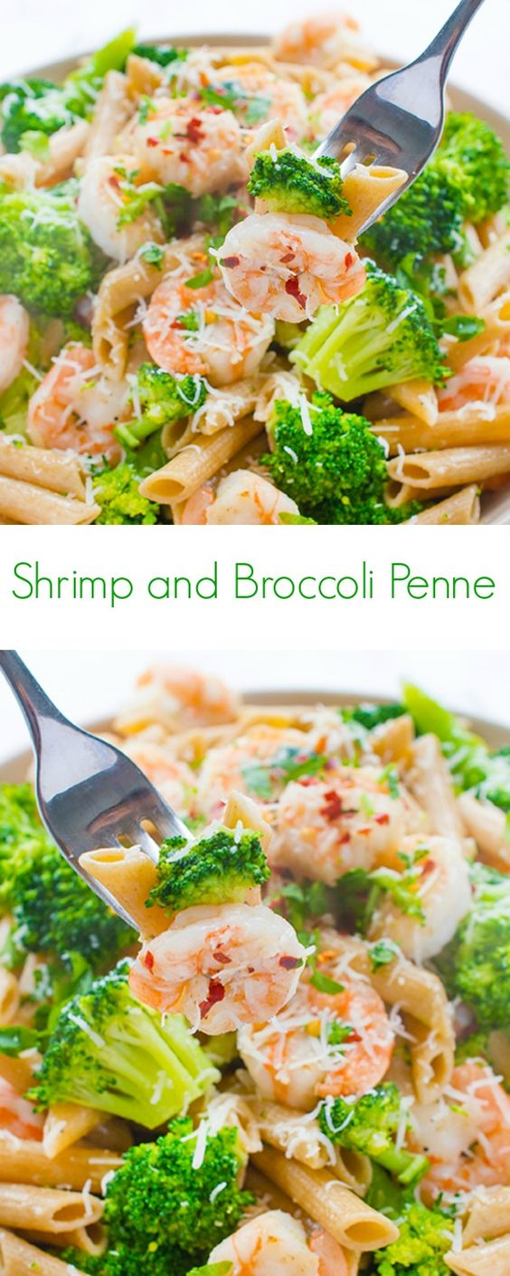 Shrimp and Broccoli Penne Shrimp and Broccoli Penne