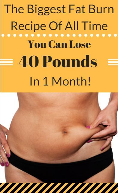 The Biggest Fat Burn Recipe Of All Time You Can Lose 40 Pound In 1 Month The Biggest Fat Burn Recipe Of All Time You Can Lose 40 Pound In 1 Month!