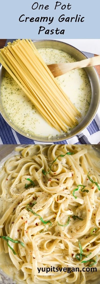One Pot Creamy Garlic Pasta One Pot Creamy Garlic Pasta