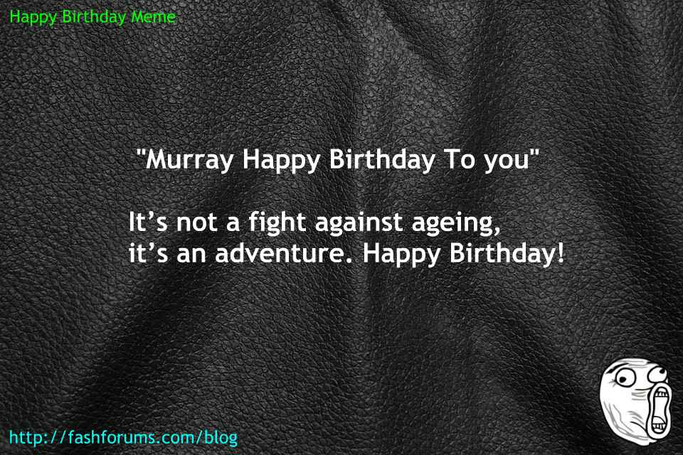 Happy birthday murray meme 60 HAPPY BIRTHDAY MEME BEST EVER