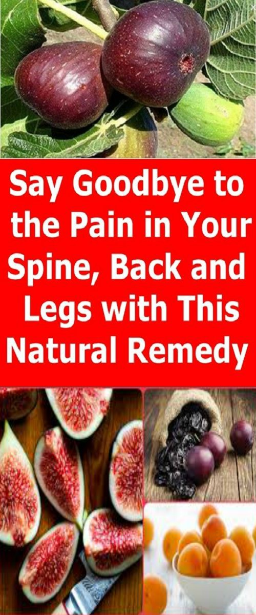 SAY GOODBYE TO THE PAIN IN YOUR SPINE, BACK AND LEGS WITH THIS NATURAL REMEDY