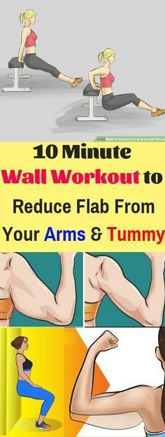 12 7 10 Minute Wall Workout to Reduce Flab From Your Arms and Tummy