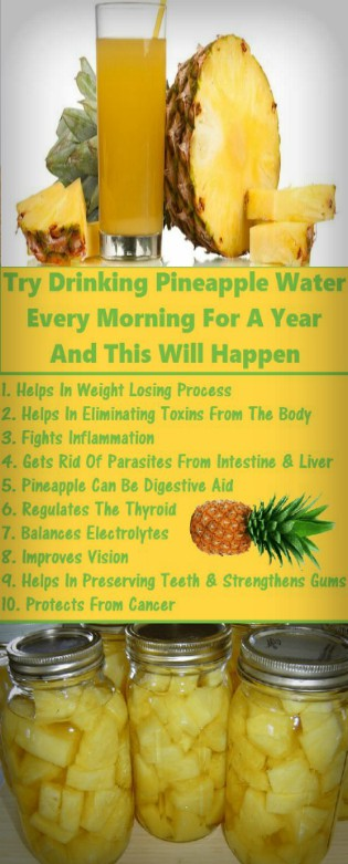 Try Drinking Pineapple Water Every Morning for a Year And This Will Happen Try Drinking Pineapple Water Every Morning for a Year And This Will Happen