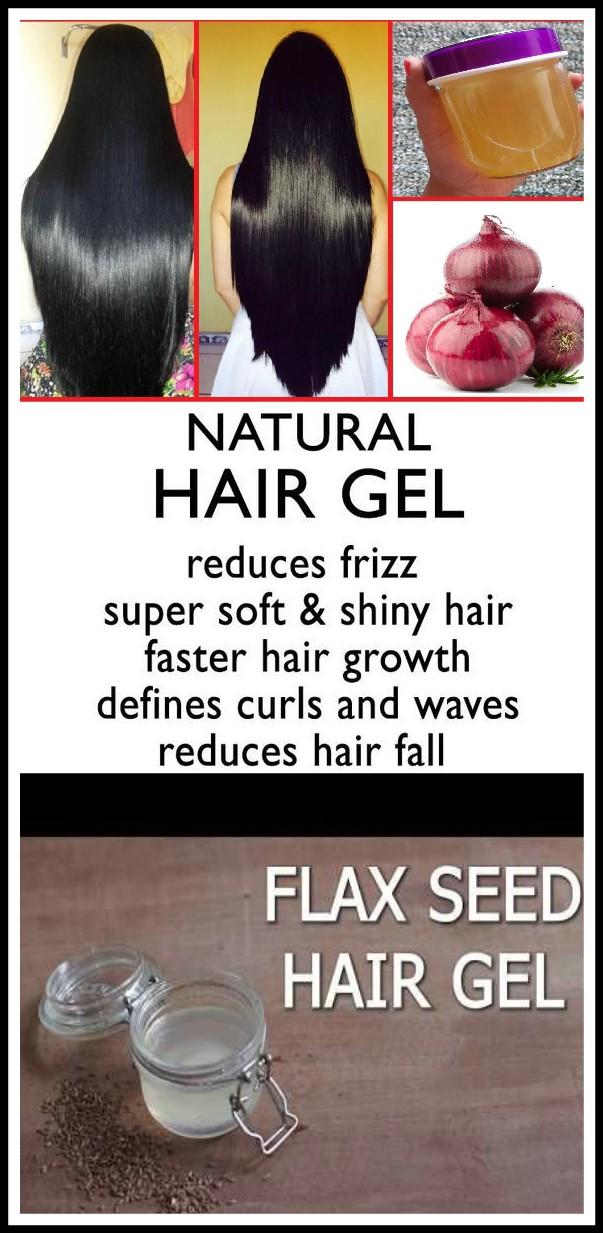 13 2 DIY NATURAL HAIR GEL for hair growth and hair shine