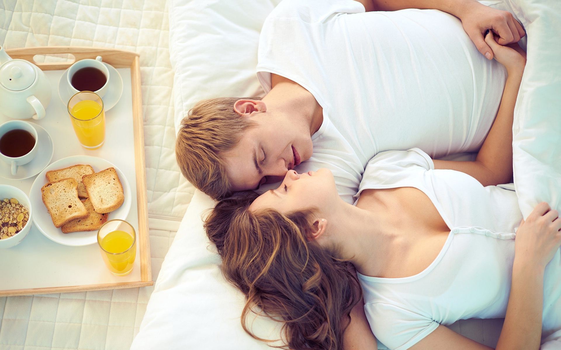 Morning romantic couple romance in bedroom Husbands, How to Help Your Wife Feel Sexy Again