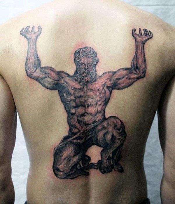 full back mens atlas tattoo designs Atlas Tattoo Designs For Men – Manly Greek Ink Ideas
