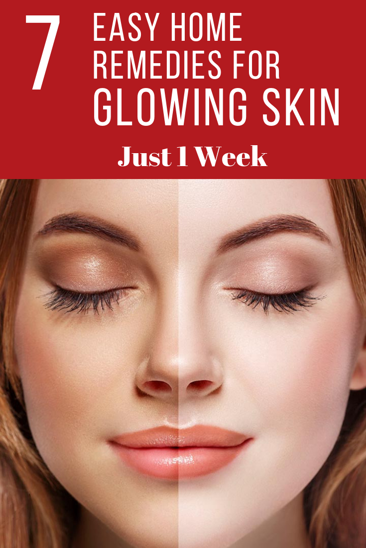 1 HOW TO GET GLOWING SKIN IN A WEEK NATURALLY [AT HOME]